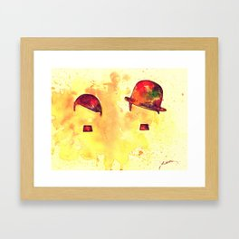 Charlie & Hitler - Its only the hat Framed Art Print