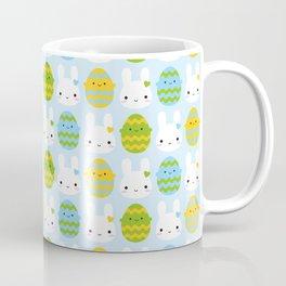 Kawaii Easter Bunny & Eggs Coffee Mug