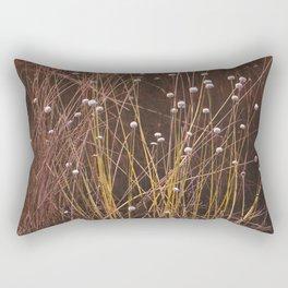 Silver buttons Rectangular Pillow