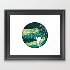 Dreamy night tree Framed Art Print