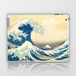 Japanese Woodblock Print The Great Wave of Kanagawa by Katsushika Hokusai Laptop & iPad Skin