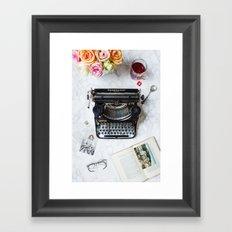 Typewriter Love. Framed Art Print