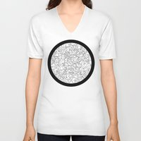 mirror V-neck T-shirts featuring Mirror by 5wingerone