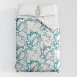 Female Face on Watercolor Minimalistic Clean Design Comforters