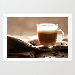 My Coffee in the morning Art Print