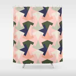 Retro pattern geometric Shower Curtain