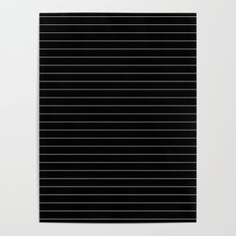 Black White Pinstripe Minimalist Poster