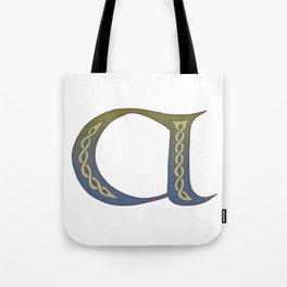 Celtic Knotwork Alphabet - Letter A Tote Bag