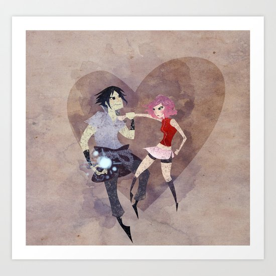 I hate to love you! Art Print