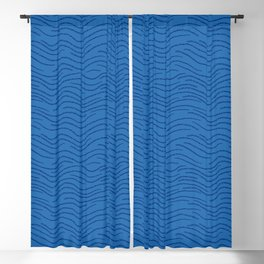 Azure Blue Wave Blackout Curtain