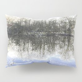 Early Morning Snow Forest Pond Pillow Sham