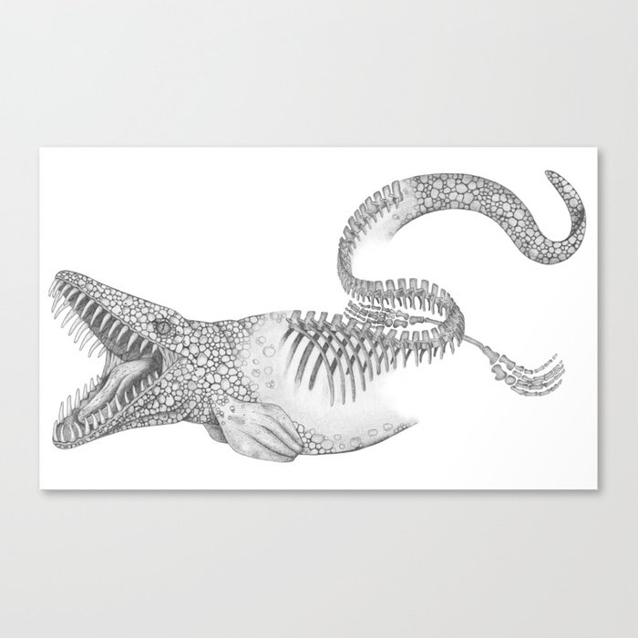Mosasaurus Leinwanddruck