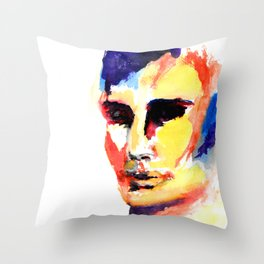 The Watercolor Man Throw Pillow