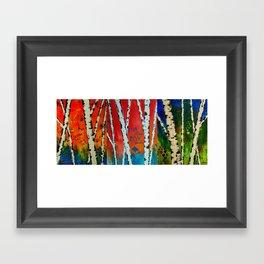 Birch Tree Stitch Framed Art Print