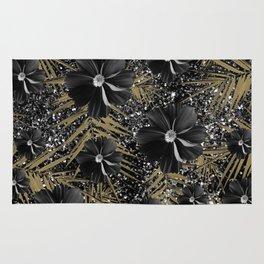 Tropical Diamond Flowers #2 #shiny #chic #floral #palms #decor #art #society6 Rug