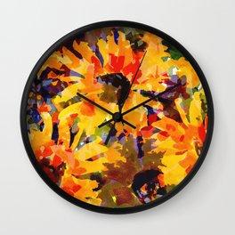 Golden Sunflower Garden Wall Clock