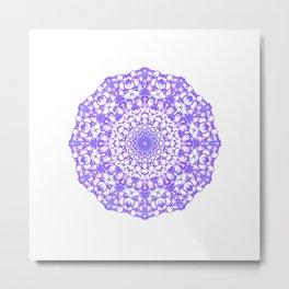 Mandala 12 / 4 eden spirit purple Metal Print