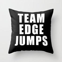 Team Edge Jumps Throw Pillow