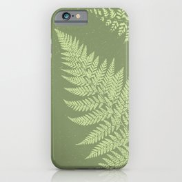 Dark olive fern iPhone Case