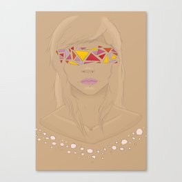Girl with the Abstract Eyes Canvas Print