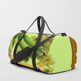 YELLOW-GREEN BANANAS GREEN GRAPES ART DESIGN Duffle Bag