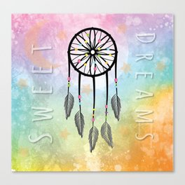 Sweet Dreams Dreamcatcher Canvas Print