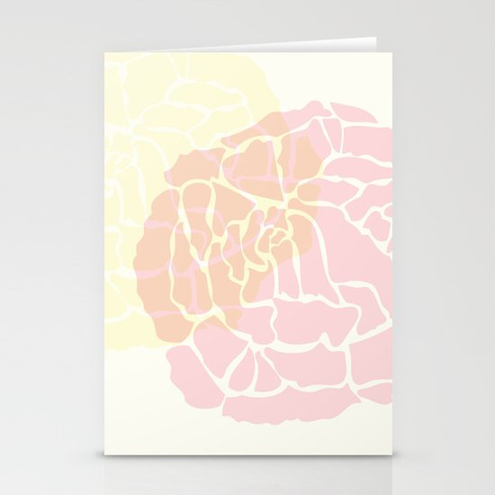 "art deco rose 8"" x 10"" print Stationery Cards"
