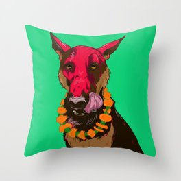 Dog Festival Throw Pillow