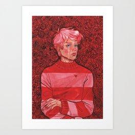 Teary Boy Art Print