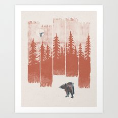A Bear in the Wild... Art Print
