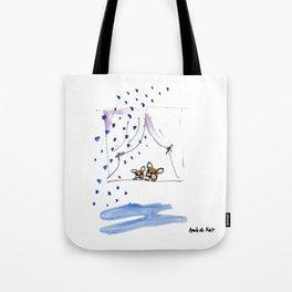 """Ohh, just rain"" french bulldog art by BoubouleArt Tote Bag"