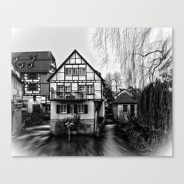Old timbered house Canvas Print