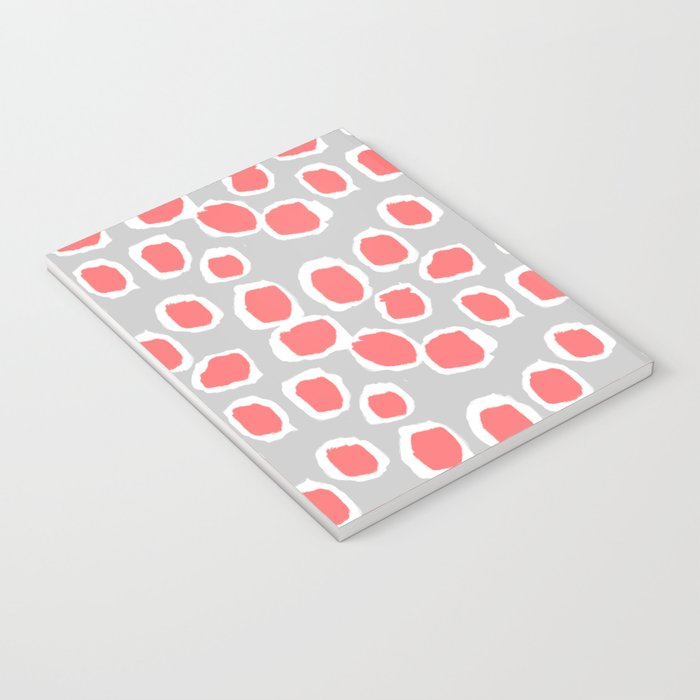 Zola - Abstract painted dots, painterly, bold pattern, surface pattern, print pattern design Notebook