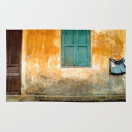 Antique Chinese Wall of Hoi An Rug