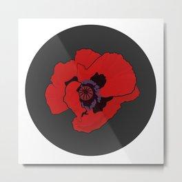 Poppy time Metal Print