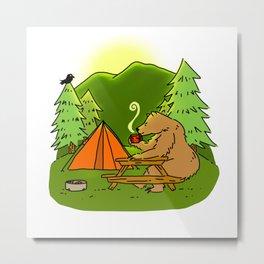 Mountain Air Booty Bear Metal Print