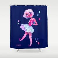 bubblegum Shower Curtains featuring Bubblegum by Anoosha Syed