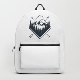Mountains. Double Exposure Backpack