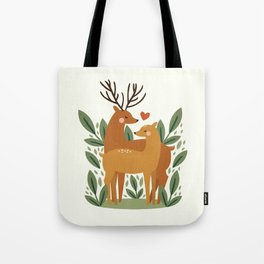 Deer Love Tote Bag