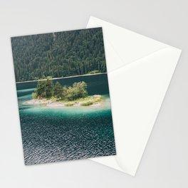 Eibsee Blue Mountain Lake Island Stationery Cards