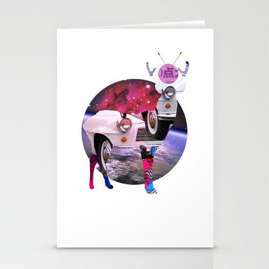 DeerSpaceInvasion 3 Stationery Cards