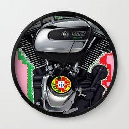 Portuguese Hot Rod Pink. Wall Clock