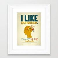 dr seuss Framed Art Prints featuring Dr. Seuss by Kongoriver