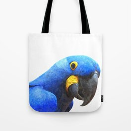 Blue Parrot Portrait Tote Bag
