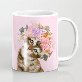 Baby Cat with Flower Crown Coffee Mug