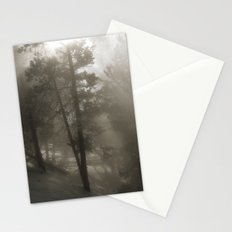 Sunlight and Fog Through Trees Stationery Cards