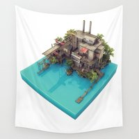 island Wall Tapestries featuring Island by JoelAndersson