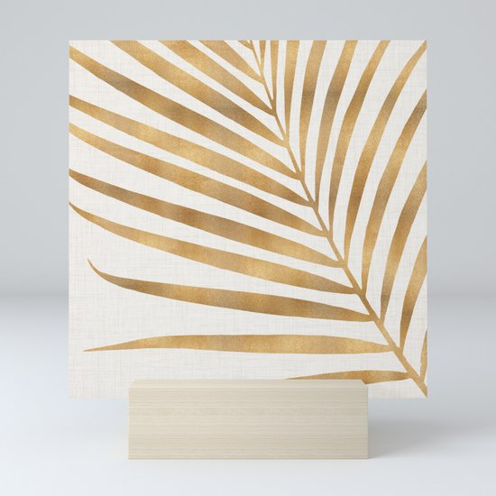 Metallic Gold Palm Leaf by kristiangallagher