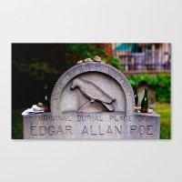 edgar allen poe Canvas Prints featuring Original Burial Place of Edgar Allen Poe by Ann Yoo