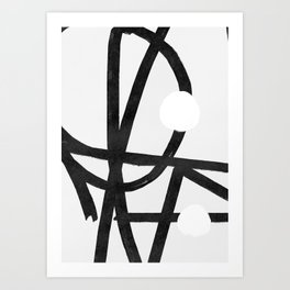 Lines brush movement minimal Art Print